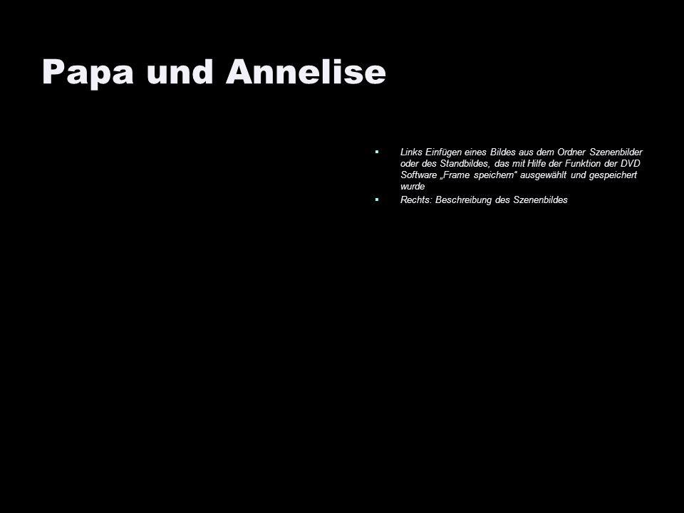 Papa und Annelise Links Einfügen eines Bildes aus dem Ordner Szenenbilder oder des Standbildes, das mit Hilfe der Funktion der DVD Software Frame spei