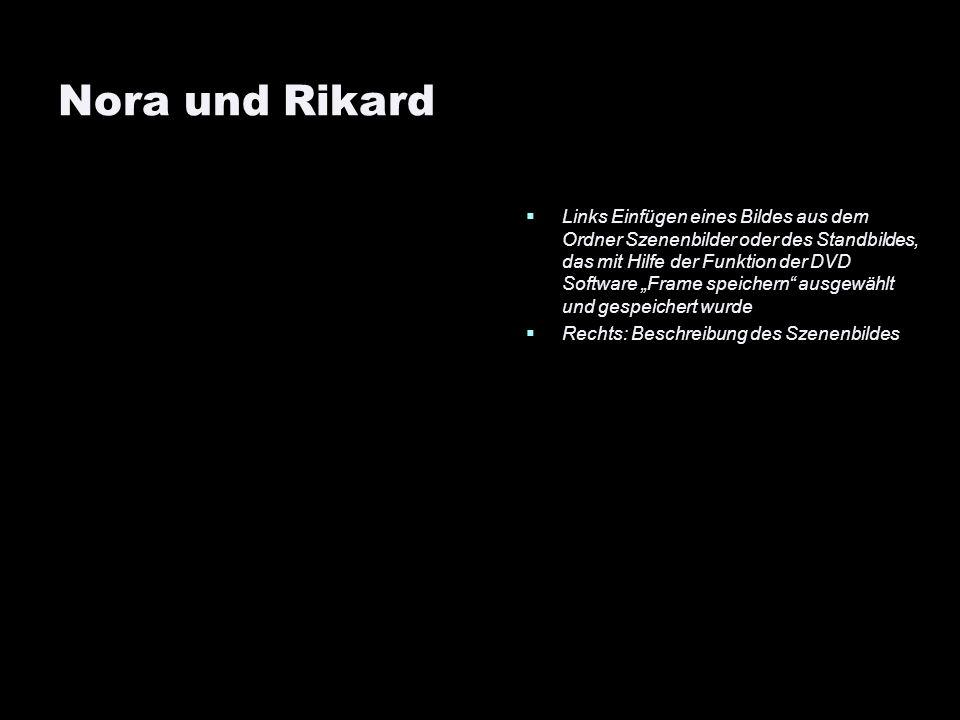 Nora und Rikard Links Einfügen eines Bildes aus dem Ordner Szenenbilder oder des Standbildes, das mit Hilfe der Funktion der DVD Software Frame speich