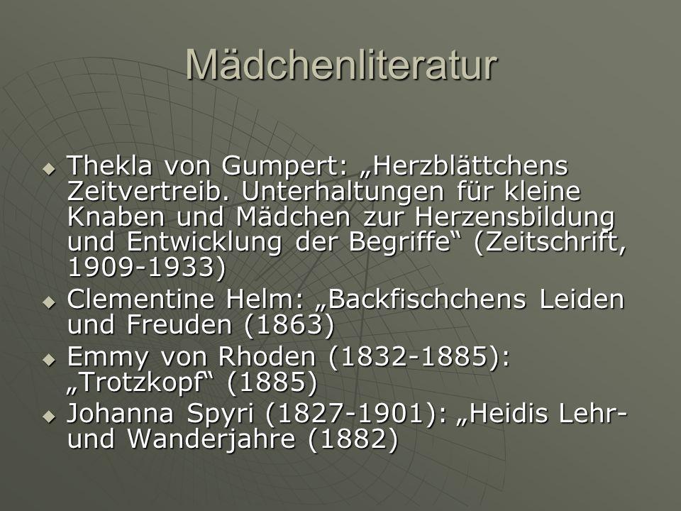 Mädchenliteratur Thekla von Gumpert: Herzblättchens Zeitvertreib.