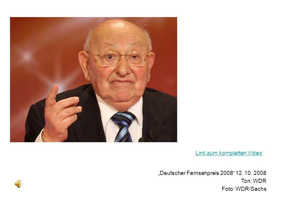 (Photo WDR/Sachs) Deutscher Fernsehpreis 2008 12. 10. 2008 Ton: WDR Foto: WDR/Sachs Link zum kompletten Video