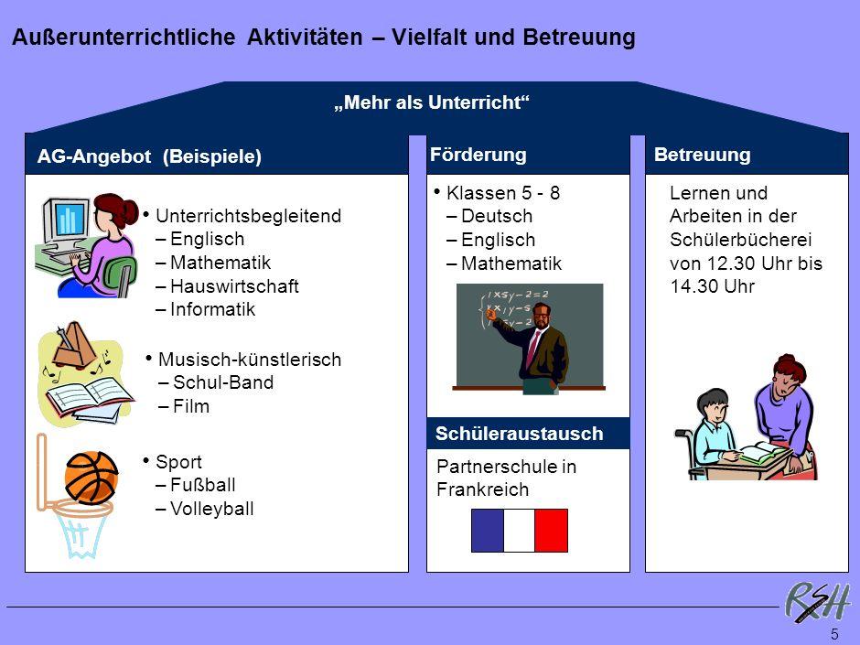 4 Fachunterricht – Verbindliches und Wahlmöglichkeiten Schriftlich mit LSE8/ZP10 Mündlich Schriftl. Wahlfach Schuljahre 5 Deutsch Englisch Mathematik