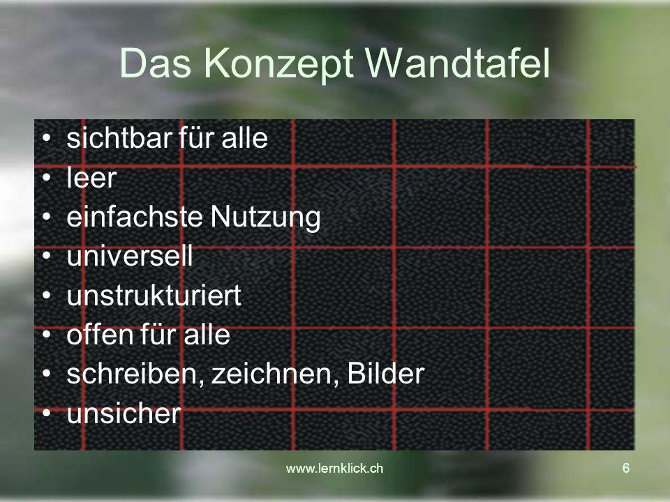 www.lernklick.ch17 Demonstration www.glarnerschulen.ch