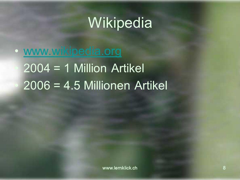 www.lernklick.ch29 Aufsatz veröffentlichen, diskutieren 1.Erstellung eines Aufsatzes im Netz, 2.