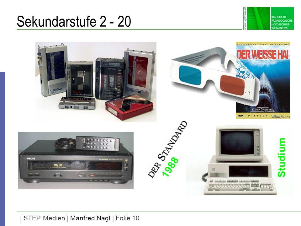 | STEP Medien | Manfred Nagl | Folie 10 Sekundarstufe 2 - 20 Studium 1988