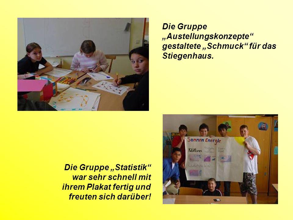 Die Gruppe Energieformen machte eine Präsentation die sehr okay war!