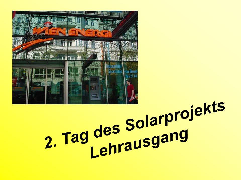 2. Tag des Solarprojekts Lehrausgang