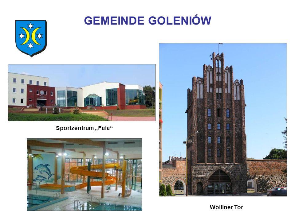 GEMEINDE GOLENIÓW Sportzentrum Fala Wolliner Tor