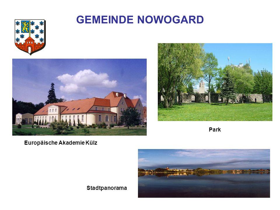 GEMEINDE NOWOGARD Stadtpanorama Park Europäische Akademie Külz