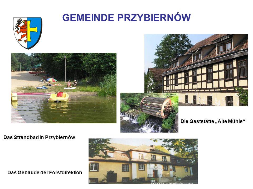 GEMEINDE PRZYBIERNÓW Die Gaststätte Alte Mühle Das Strandbad in Przybiernów Das Gebäude der Forstdirektion
