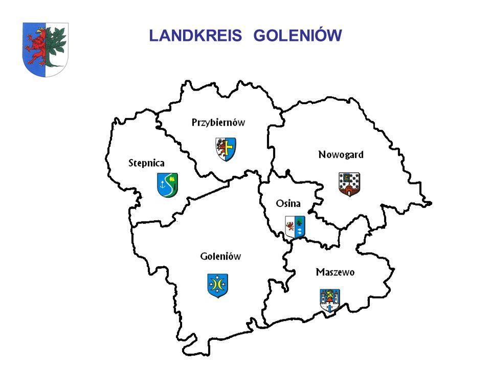 POWIAT GOLENIOWSKI Der Landkreis Goleniów verfügt über ein Straßennetz von 657 km dazu: Landesstraßen – 61,6 km Woiwodschaftsstraßen – 120, 528 km