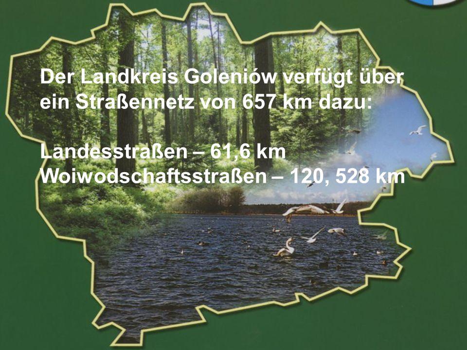 POWIAT GOLENIOWSKI Zu den Hauptvorzügen gehören: die Waldgebiete – 35% der Gesamtfläche des Landkreises, davon 4 Oberförstereien, Schutzgebieten und Reservaten, die Gewässer – 7% der Gesamtfläche, davon Stettiner Haff, Haffen und Strand in Stepnica, Dąbie See, Strand und Yachtklub in Lubczyna, Seeroute Szczecin-Świnoujście, zahlreiche Fahrrad-,Spaziergang- und Paddelbootrouten.