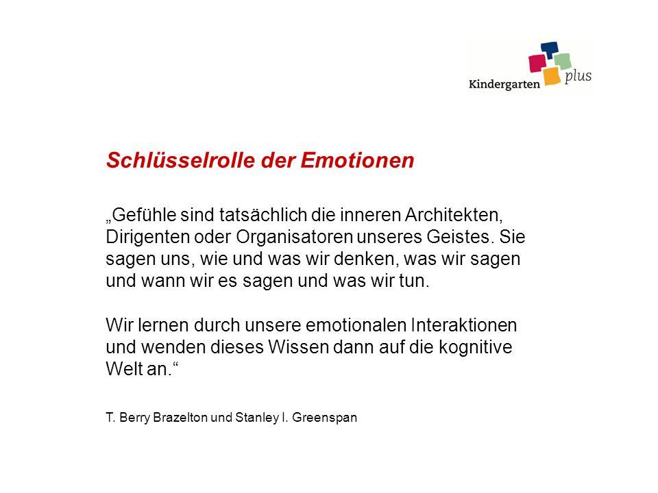 Schlüsselrolle der Emotionen Gefühle sind tatsächlich die inneren Architekten, Dirigenten oder Organisatoren unseres Geistes. Sie sagen uns, wie und w