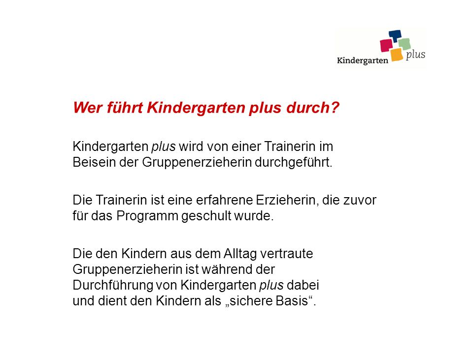 Welche Kinder nehmen an dem Programm teil.