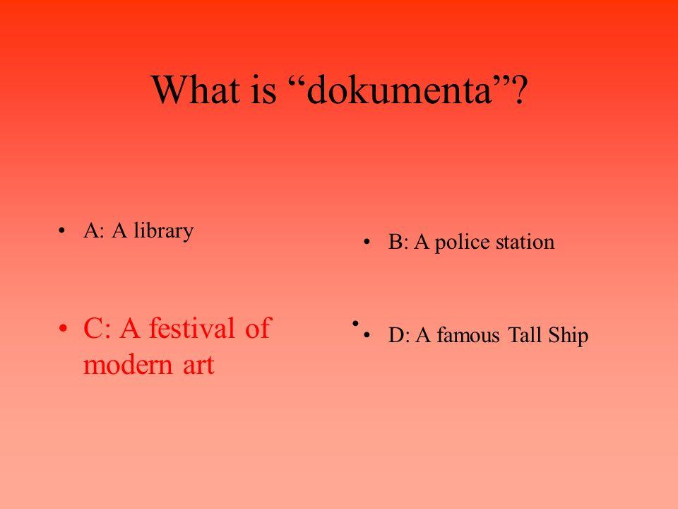 What is dokumenta.