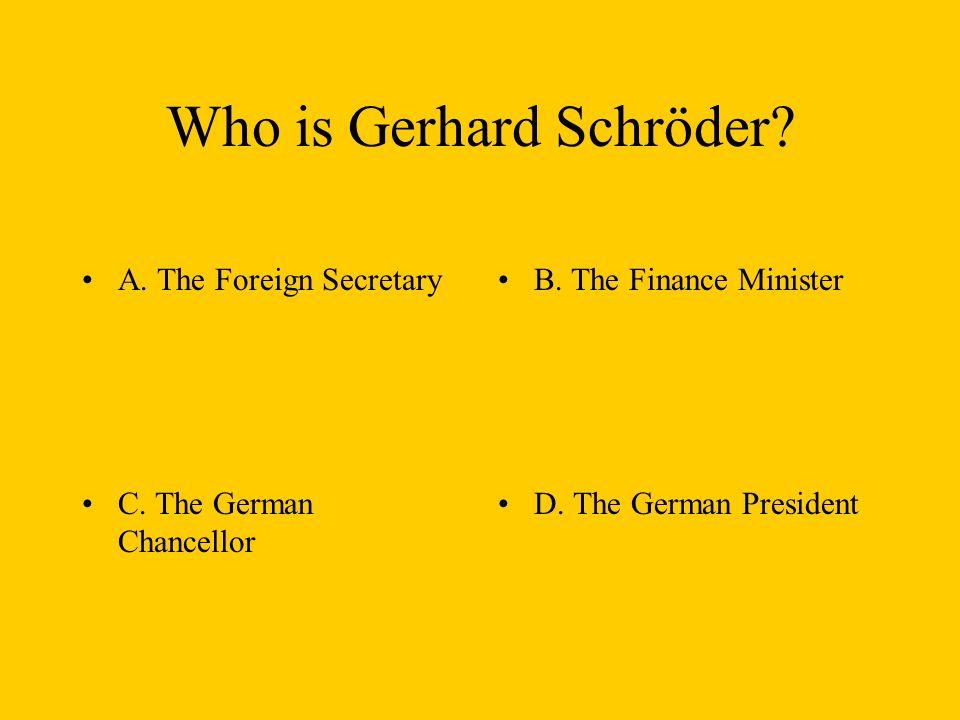 What does SPD mean. A. Sozialistische Partei Deutschlands B.