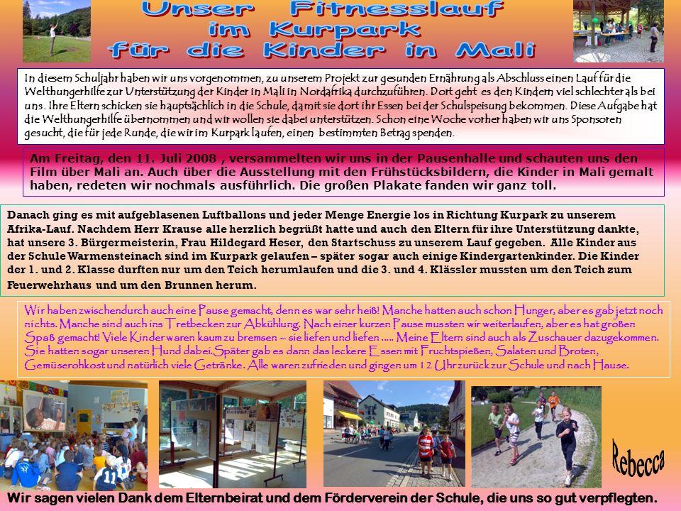 Mit großer Spannung warteten die Sponsoren, Eltern und vor allem wir Kinder der Volksschule Warmensteinach am Freitag, 18.