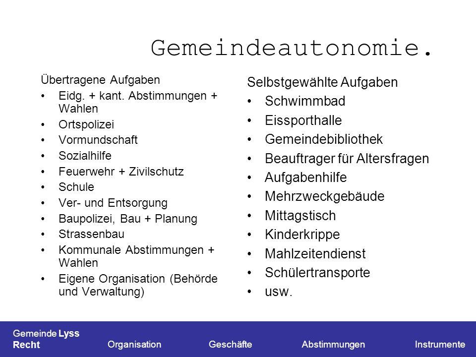 Links. www.be.ch/gesetze/ www.lyss.ch Downloadswww.lyss.ch Gemeinde Lyss Schluss