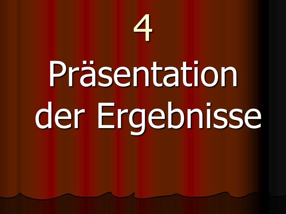4 Präsentation der Ergebnisse