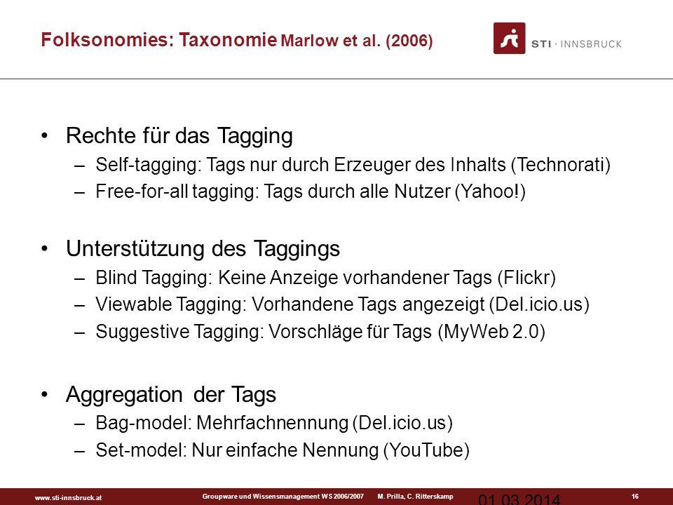 www.sti-innsbruck.at Groupware und Wissensmanagement WS 2006/2007 M.