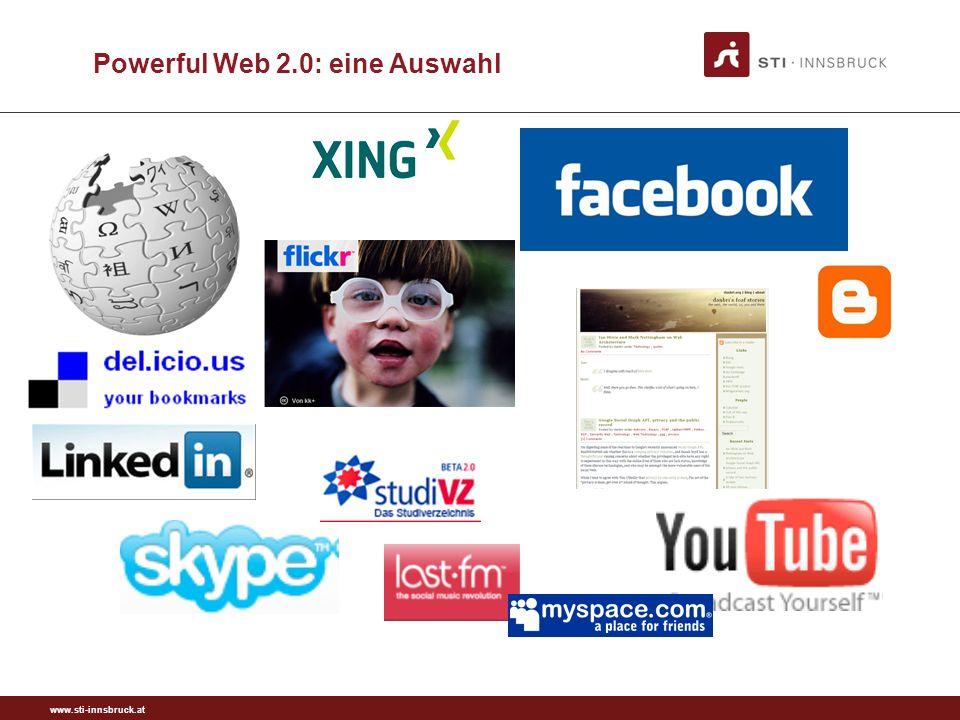 www.sti-innsbruck.at 21 Powerful Web 2.0: eine Auswahl