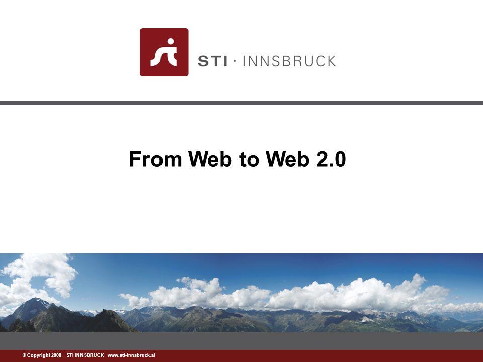 www.sti-innsbruck.at 34 Web 3.0 Ansätze Automatisches Extrahieren von Wissen auf der großen (und frei verfügbaren) Menge von Daten, die durch Web 2.0 generiert werden Integration und Wiederverwendung von Wissen (Yahoo Pipes) Motivation von Benutzern für die Generierung von semantischen Inhalten durch Anwendung von Web 2.0 Paradigmen Erstellen von Semantik als Nebeneffekt von Arbeitsprozessen (Semantic Wikis)
