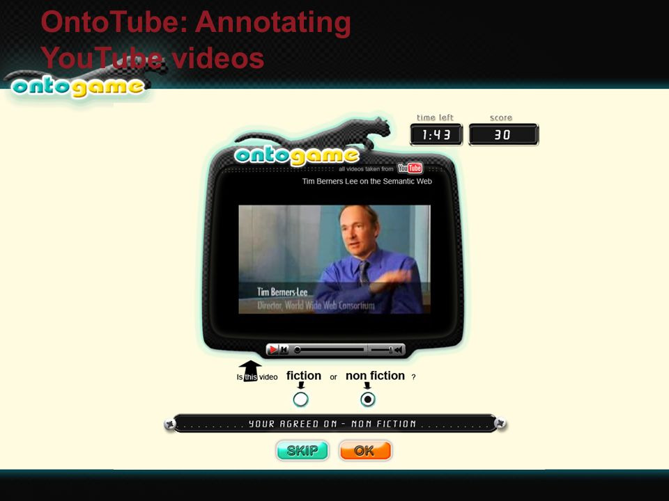 3/1/2014ESWC OntoTube: Annotating YouTube videos