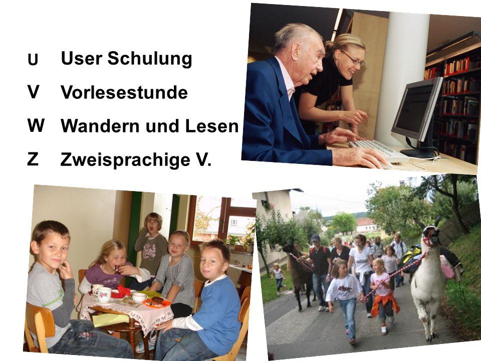 UVWZUVWZ User Schulung Vorlesestunde Wandern und Lesen Zweisprachige V.