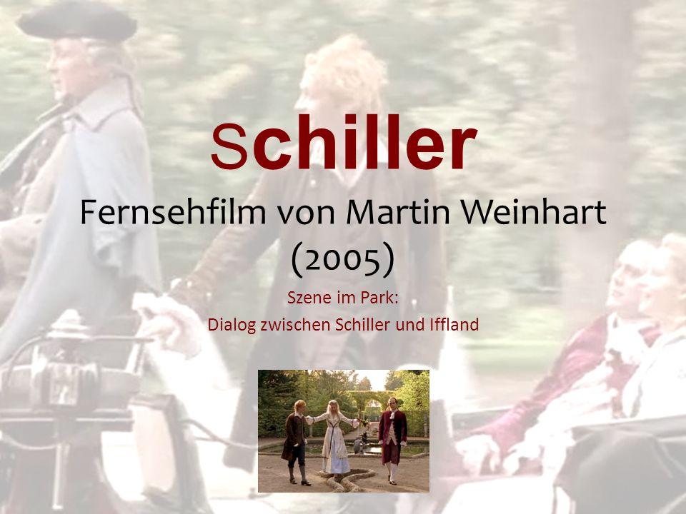 S chiller Fernsehfilm von Martin Weinhart (2005) Szene im Park: Dialog zwischen Schiller und Iffland