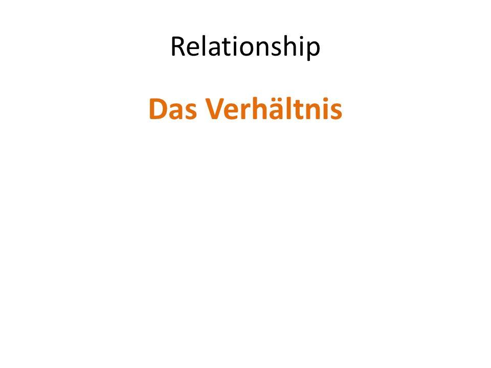 Relationship Das Verhältnis