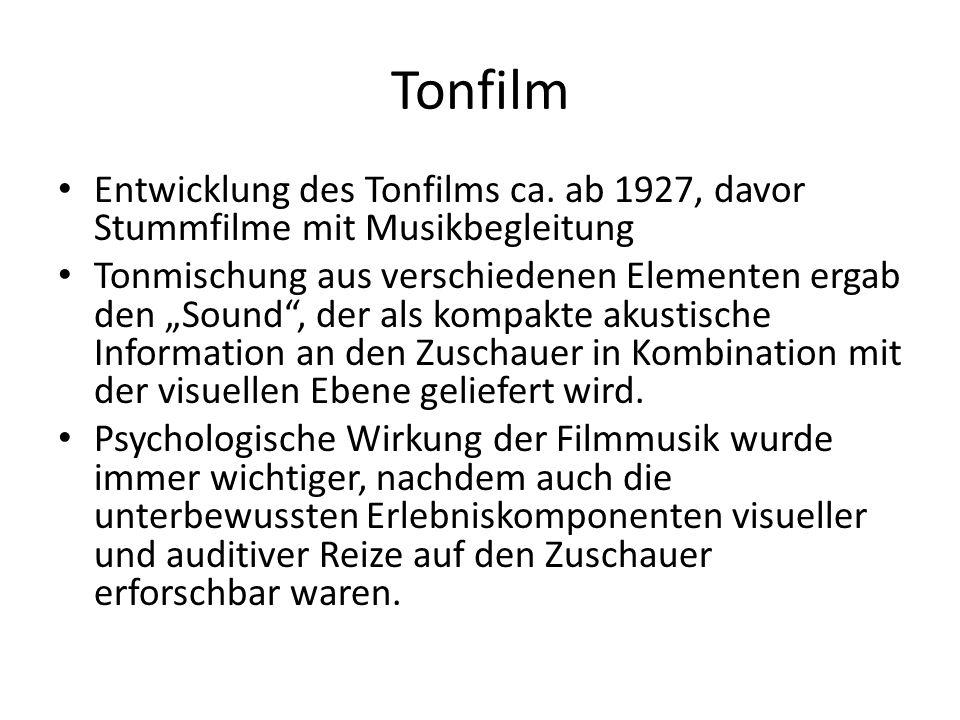 Filmmusik Originalmusik Score Originalmusik Score bereits existierende Musik