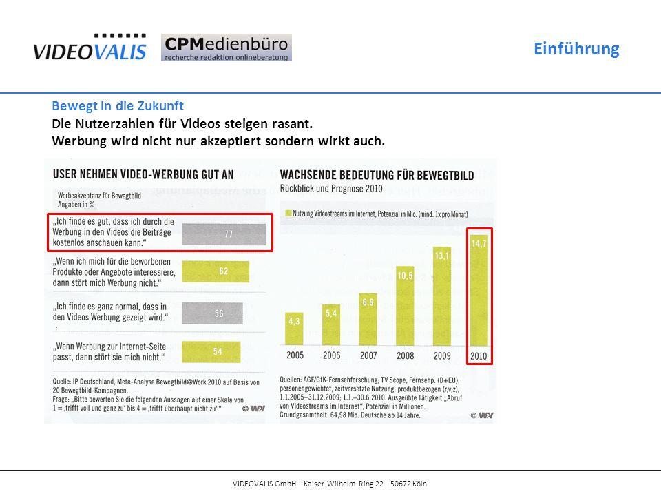 Einführung Bewegt in die Zukunft Die Nutzerzahlen für Videos steigen rasant.