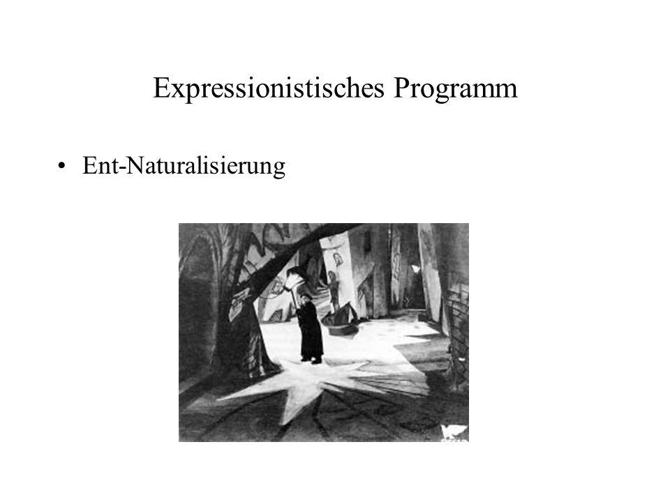 Expressionistisches Programm Ent-Naturalisierung