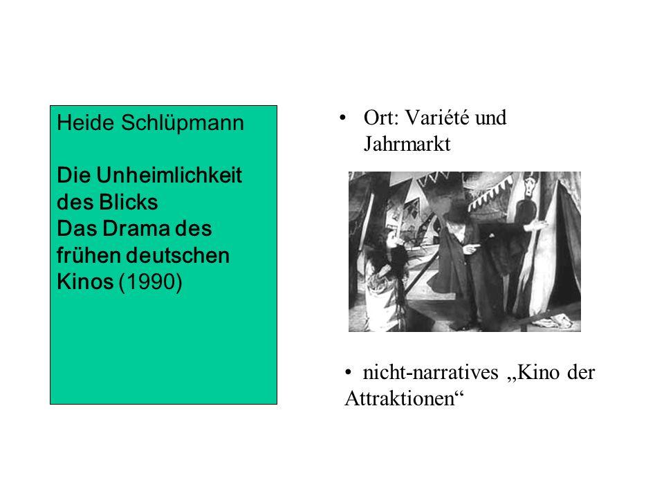 Ort: Variété und Jahrmarkt Heide Schlüpmann Die Unheimlichkeit des Blicks Das Drama des frühen deutschen Kinos (1990) nicht-narratives Kino der Attraktionen