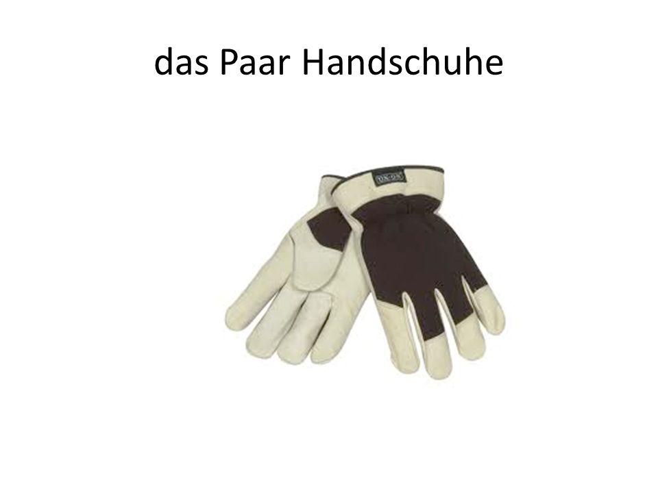 das Paar Handschuhe
