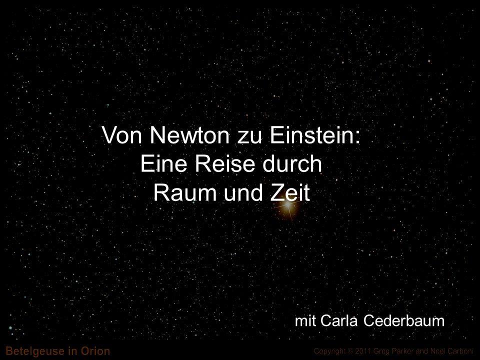 Einsteins Theorie -heißt Allgemeine Relativitätstheorie -Benutzt Ideen aus Differential- geometrie wie Krümmung -Beschreibt Gravitation durch eine Differentialgleichung