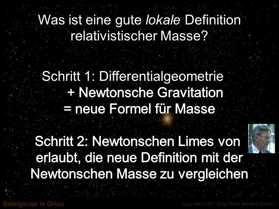 Was ist eine gute lokale Definition relativistischer Masse?