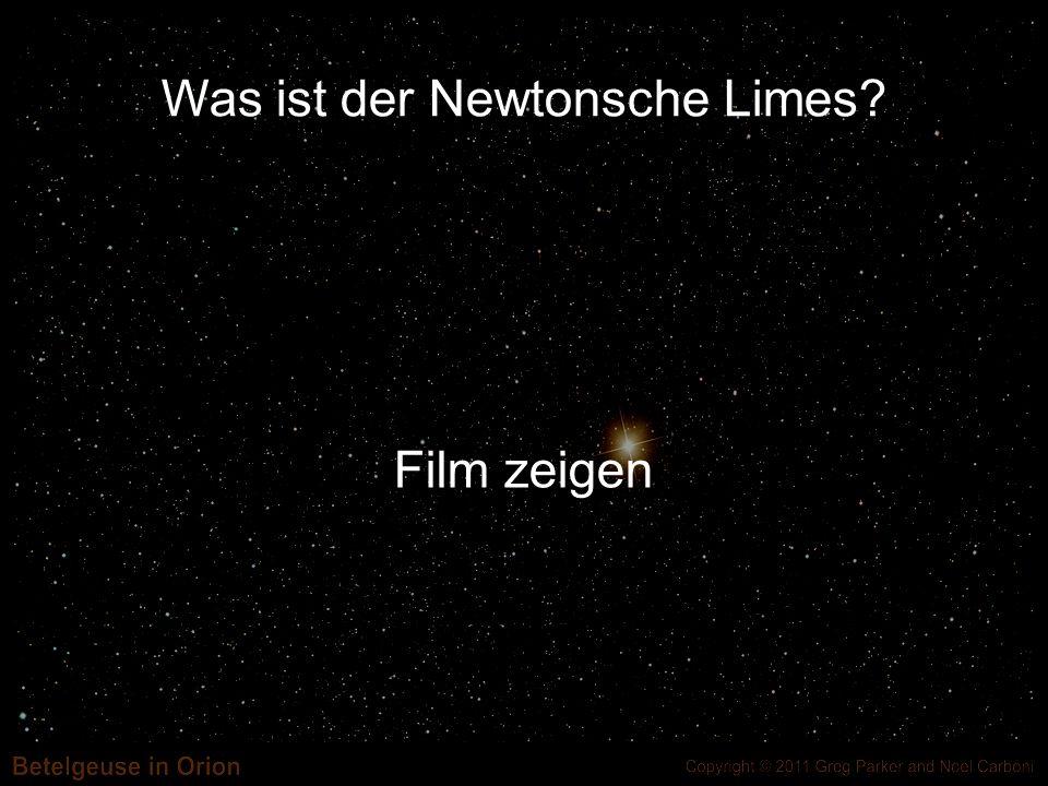 Was ist der Newtonsche Limes? Film zeigen