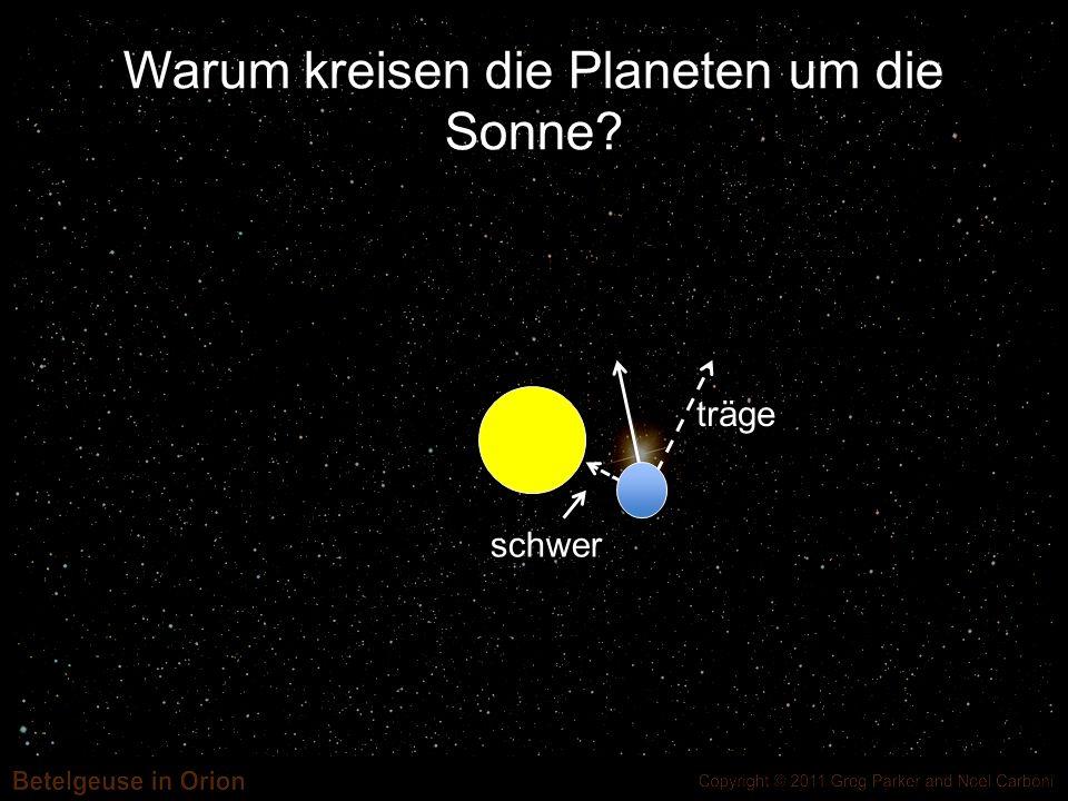Was ist hier Masse M? M = Masse der Sonne = Normalenvektor an Sonne
