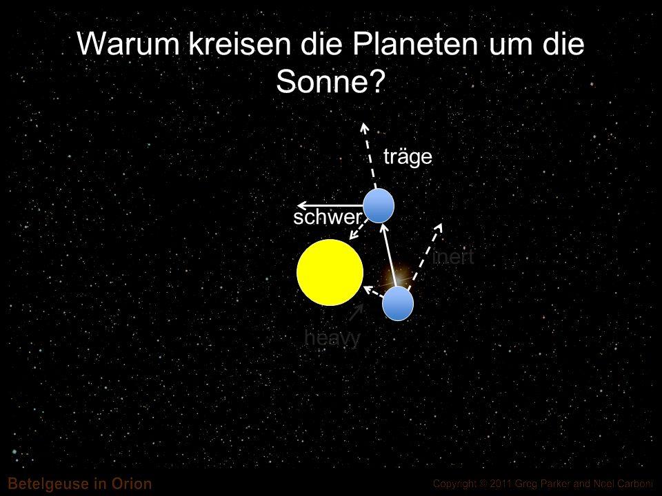 inert heavy Warum kreisen die Planeten um die Sonne? träge schwer