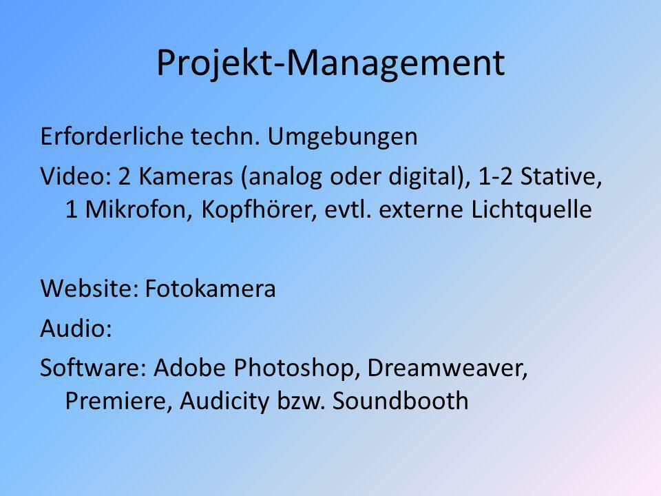 Projekt-Management Erforderliche techn.