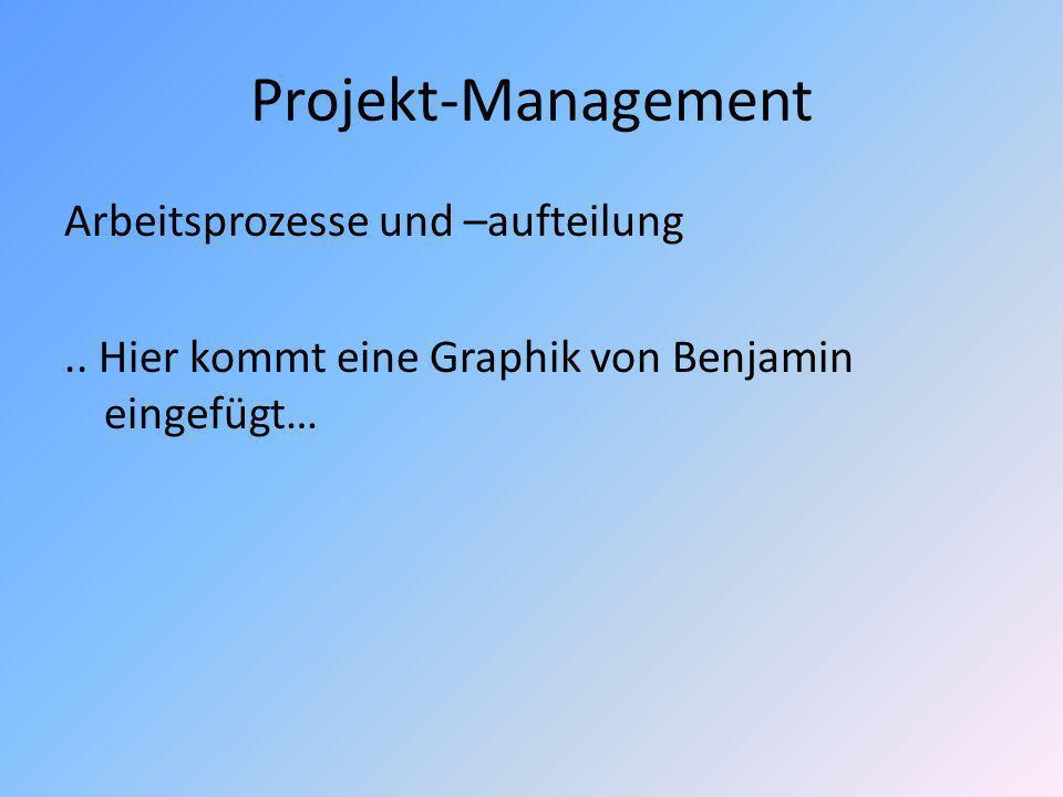 Projekt-Management Arbeitsprozesse und –aufteilung..