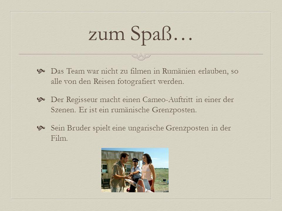 zum Spaß… Das Team war nicht zu filmen in Rumänien erlauben, so alle von den Reisen fotografiert werden.
