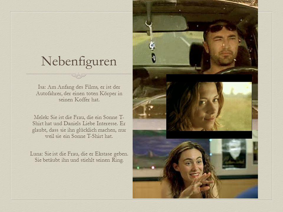 Nebenfiguren Isa: Am Anfang des Films, er ist der Autofahrer, der einen toten Körper in seinen Koffer hat.