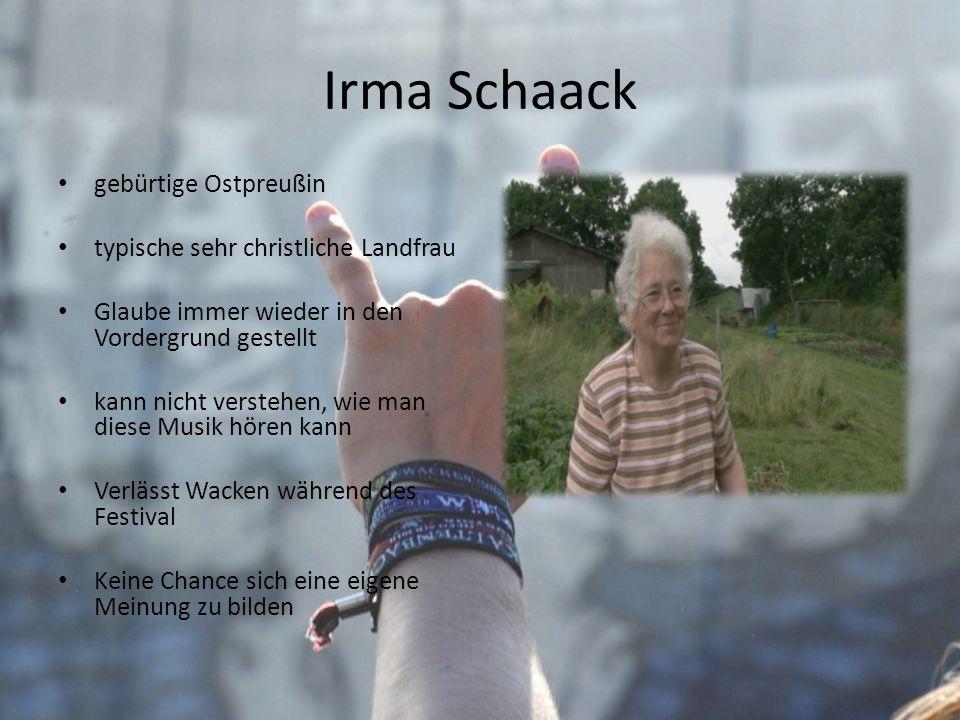 Irma Schaack gebürtige Ostpreußin typische sehr christliche Landfrau Glaube immer wieder in den Vordergrund gestellt kann nicht verstehen, wie man die