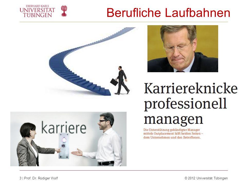 3 | Prof. Dr. Rüdiger Wulf© 2012 Universität Tübingen Berufliche Laufbahnen