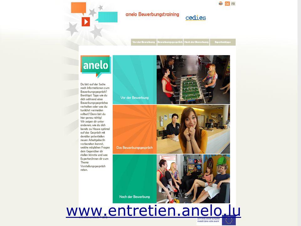 18.07.2013 - PresseinfoService National de la Jeunesse6 www.entretien.anelo.lu