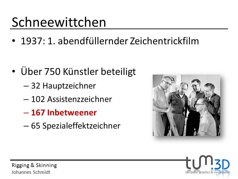 computer graphics & visualization Rigging & Skinning Johannes Schmidt Schneewittchen 1937: 1.