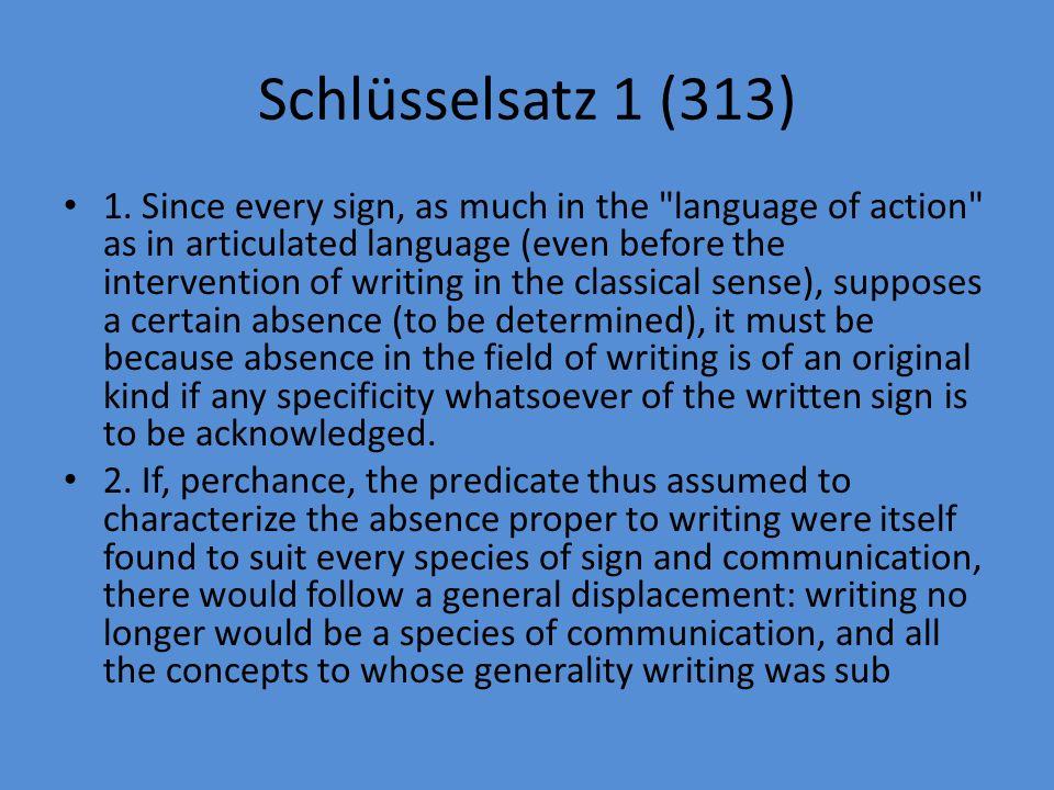 Schlüsselsatz 1 (313) 1.