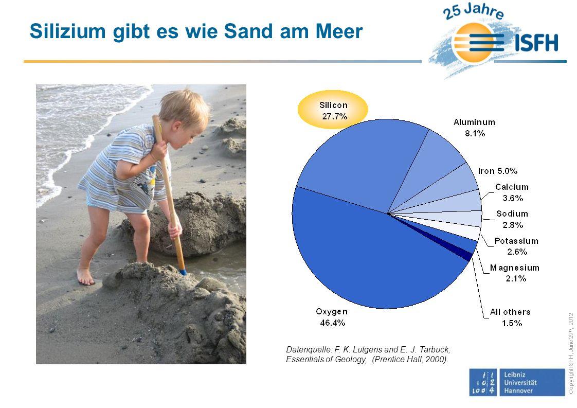 Copyright ISFH, June 29 th, 2012 Bis zu ca.