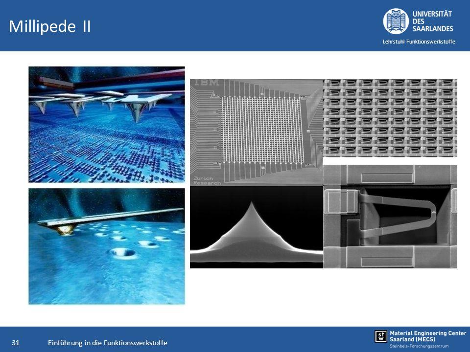 Einführung in die Funktionswerkstoffe31 Lehrstuhl Funktionswerkstoffe Millipede II